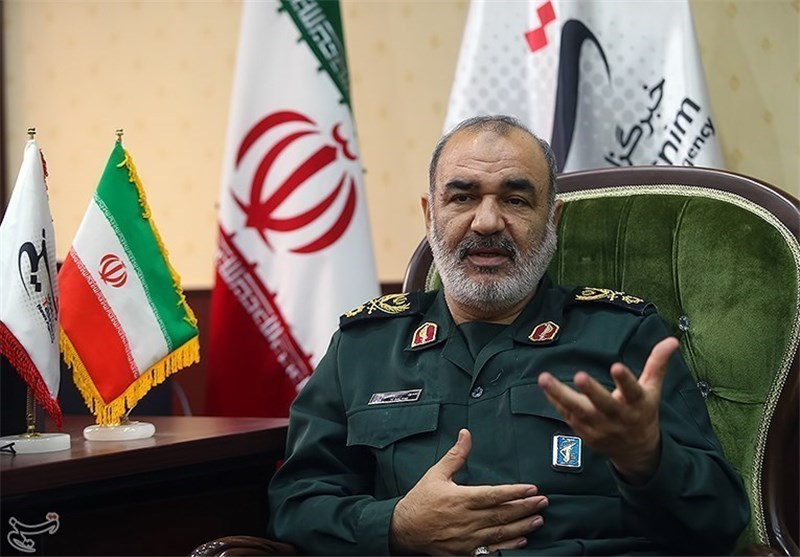 Brigadeiro General Hossein Salami, comandante da Revolução Islâmica Guards Corps (IRGC)