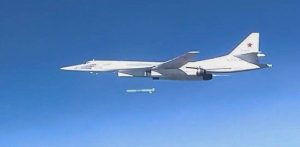 Kh-101 cruise missile separating from a Tu-160 bombe