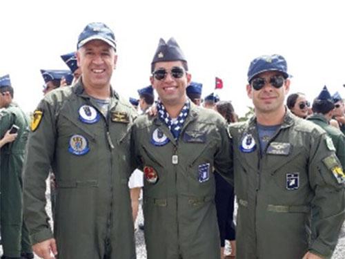 Pilotos durante evento