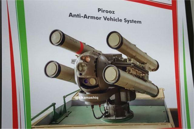 Plataforma Pirooz para mísseis Dehlavieh