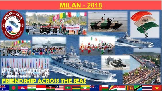 Milan 2018 exercício naval da índia
